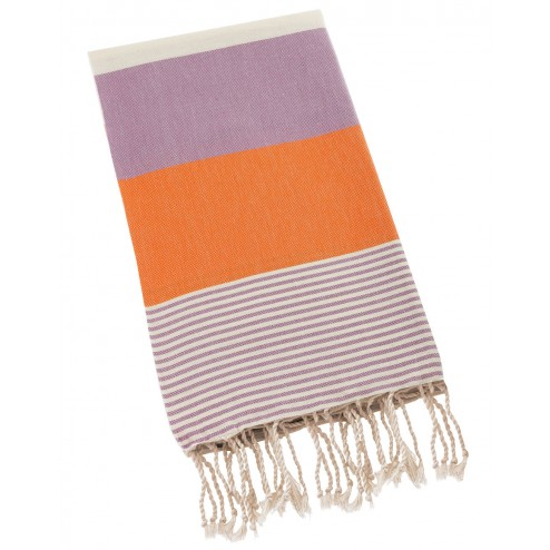 Peshtemal Turkish Towel Beach Cover Up - Orange-Purple