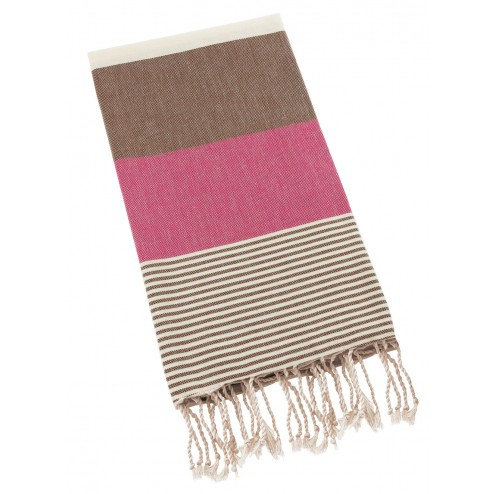 Peshtemal Turkish Towel Beach Cover Up - Rose-Brown