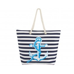 Anchor Canvas Tote Bag - Navy