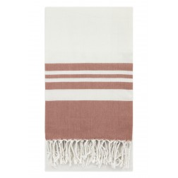 Eshma Mardini Peshtemal Turkish Bamboo Towel Beach Pool Cover Up  Picnic Bath Spa Sauna - ( Powder Red )