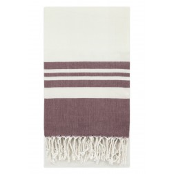 Eshma Mardini Peshtemal Turkish Bamboo Towel Beach Pool Cover Up  Picnic Bath Spa Sauna - ( Burgundy )