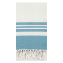 Eshma Mardini Peshtemal Turkish Bamboo Towel Beach Pool Cover Up  Picnic Bath Spa Sauna - (Water Blue )