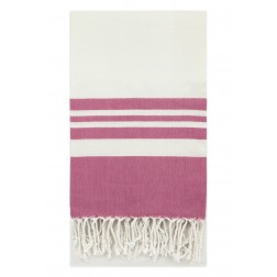 Eshma Mardini Peshtemal Turkish Bamboo Towel Beach Pool Cover Up  Picnic Bath Spa Sauna - ( Fuchsia )