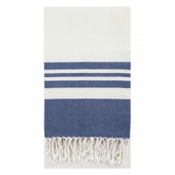Eshma Mardini Peshtemal Turkish Bamboo Towel Beach Pool Cover Up  Picnic Bath Spa Sauna - ( Navy Blue )