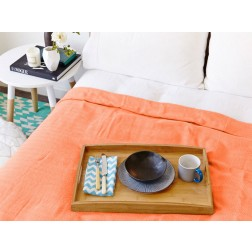 Eshma Mardini Turkish Cotton Quilt, Bedspread, Blanket - Orange