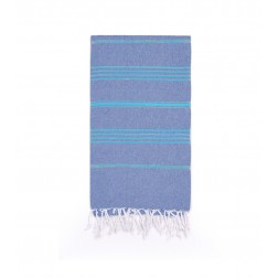 Peshtemal Turkish Towel Beach Cover-Up - Denim Blue