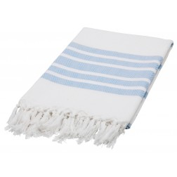 Eshma Mardini Luxury Turkish Cotton Peshtemal for Beach, Bath, Pool...etc. - Light Blue