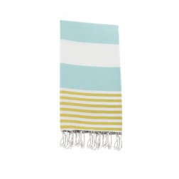 Peshtemal towel cover-up,  - Ice Blue - Yellow