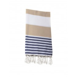 Peshtemal towel cover-up,  - Brown - Navy Blue