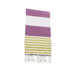 Peshtemal towel cover-up,  - Purple - Yellow