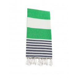 Peshtemal towel cover-up,  - Green - Navy Blue
