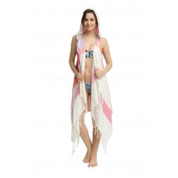 Eshma Mardini Swimwear Bikini Hooded Cover-Up Beach Dress - Hoodie ( Pink - Red - Lilac )