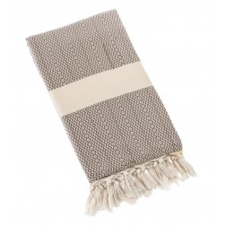 Eshma Mardini Turkish Towel Peshtemal for Beach Spa Bath Pool Sauna Yoga Pilates Fitness - Beige