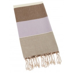 Peshtemal Turkish Towel Beach Cover Up - Lilac-Brown