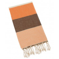 Peshtemal Turkish Towel Beach Cover Up - Orange-Brown