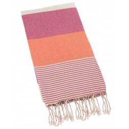 Peshtemal Turkish Towel Beach Cover Up - Rose-Orange